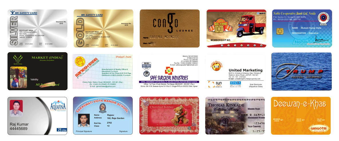 cards membership cards smart cards scratch cards golden silver cards